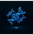 Abstract DNA Neon molecular structure vector image