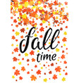 autumn time banner seasonal fall poster vector image vector image