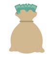 bank money bag vector image