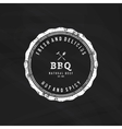 Barbecue label vector image vector image