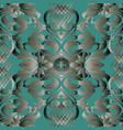 baroque seamless pattern dark turquoise vector image