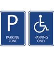 Blue parking signs vector image vector image