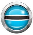 Botswana flag metal button vector image vector image
