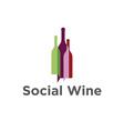 bottles of wine in a shape of bubble talk vector image