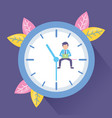 businessman laptop clock vector image