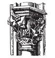capital paris vintage engraving vector image vector image