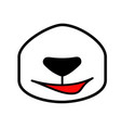 cartoon panda mouth drawn nose with a smile vector image vector image