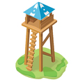 cartoon tower icon vector image vector image