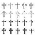 christian crosses decorative crucifix religion vector image