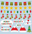 christmas decoration and party signs vector image vector image