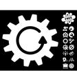 Cogwheel Rotation Icon With Tools Bonus vector image vector image