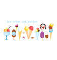 collection multicolored ice cream isolated vector image