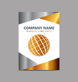 company brochure design with company name and vector image