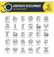 corporate development outline icons vector image vector image