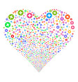 create fireworks heart vector image vector image
