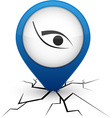 Eye blue icon in crack vector image vector image