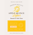 family recipe quince liquor acohol label abstract vector image
