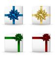 festive gift boxes set vector image