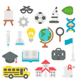 Flat design back to school set vector image