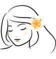Frangipani flower vector | Price: 1 Credit (USD $1)