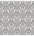 gray damask floral seamless pattern vector image vector image