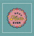 happy mothers day greeting card with blossom vector image vector image