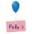 Hello card vector image