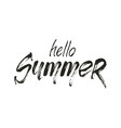 hello summer wording vector image vector image