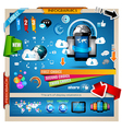 Infographic with Cloud Computing concept vector image vector image