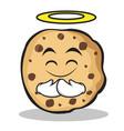 innocent face sweet cookies character cartoon vector image vector image