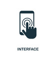 interface icon symbol creative sign from seo and vector image