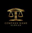 lawyer logotype black background vector image