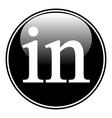 linkedin icon on white vector image