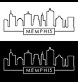 memphis skyline linear style editable file vector image vector image