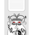 modern cute ornate doodle fantasy monster vector image