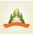 mountain house 5 vector image