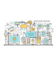 office team concept in flat vector image vector image