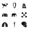 old time icons set simple style vector image vector image