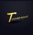 premium letter t logo concept design template vector image vector image