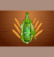 realistic beer products ad 3d vector image vector image