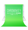 realistic hromakey green paper backdrop vector image