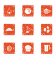 refreshment icons set grunge style vector image vector image