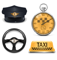 Retro Taxi Icons vector image