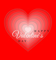 retro valentine card with hearts greeting card vector image vector image