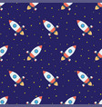 rockets in space seamless pattern vector image