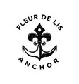 rustic vintage fleur de lis and anchor logo design