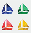 sail boat icon Abstract Triangle vector image