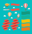 set flying vehicle pull banners vector image vector image