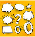 set of comic chat bubbles and expressions vector image vector image