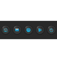 Set of dark buttons for web design vector image